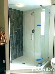 half wall shower enclosure glass block 3 8 pony walk in no w half wall shower glass