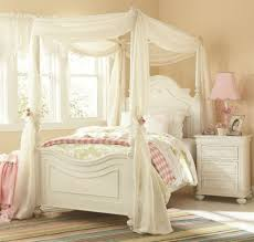 Pink And Cream Bedroom Cream Wall Color With Classic White Bed Frame For Elegant Princess