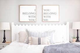 master bedroom wall decor above bed