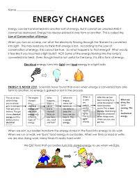 Light Energy To Mechanical Energy Energy Changes