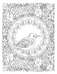 art nouveau birds a stress relieving coloring book bluestarcoloring
