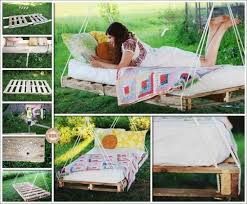 diy outdoor bed diy pallet swing bed upcycle pallets into a fabulous swing bed smothery making diy outdoor bed outdoor bed swings