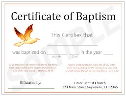 Baptism Certificate Baptismal Certificate Barca Fontanacountryinn Com