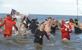 the annual day swim at hunstanton organised by the round table