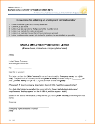 Previous Employment Verification Letter Sample Task List