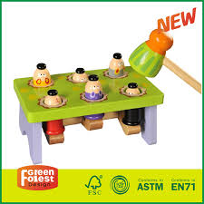 child s classic wooden pounding bench toy for toddlers pound tap w wood hammer colored pegs developmental sensory toy for boys girls