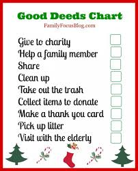 Good Deed Chart A Good Deeds Chart For Kids To Help Celebrate National