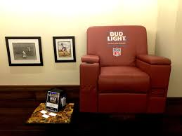 bvsstamford on twitter visit bv s through the super bowl enter to win your very own bud light lounge chair complete with cooler beer can dispenser