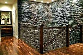 faux rock wall stone panel fence
