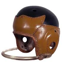 item 4 offered here is a fine high quality leather football helmet made by the george a reach sporting goods company a great aspect of the is helmet is