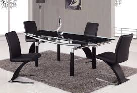 chair design ideas modern black dining chairs stylish black modern dining chairs with rectangular glass