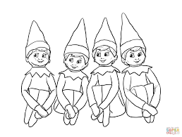 Small Picture elf on the shelf art elf on the shelf coloring pages coloring