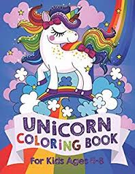 unicorn coloring book for kids ages 4 8 us edition