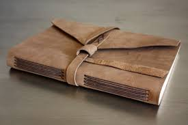 leather longstitch book handmade by linenlaid felt