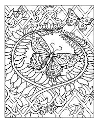 Free Coloring Page Coloring Difficult Butterfly Adult Coloring Of