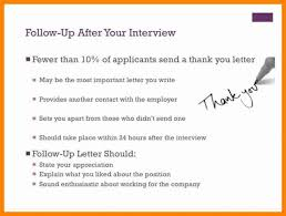 Sample Follow Up Email After Interview Status Facile See Letter No