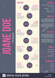 Resume Modern E Pink Gray Resume Cv Template Stockfotos Pink Gray Resume Cv