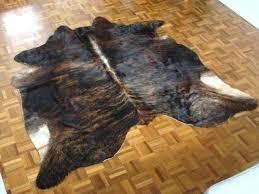brindle cow skin swatch cowhide rug faux exotic dark brown