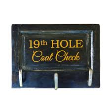 Golf Coat Rack Unique Golf Gift Nineteenth Hole Golf Coat Rack 44
