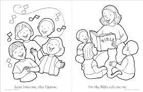 Jesus Loves The Little Children Coloring Page Loves The Children