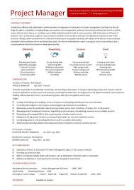 project management cv template resume samples for project managers