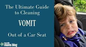 cleaning vomit out of a car seat