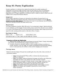 resume poem analysis poem essay examples emily dickinson brain  poetry explication essay poetry explication essay sample outline
