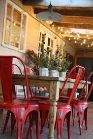 armless metal dining chairs. cute table and chairs- love the lights too...like sign above armless metal dining chairs