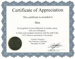 certificate of recognition templates appreciation certificate template 6 appreciation certificate