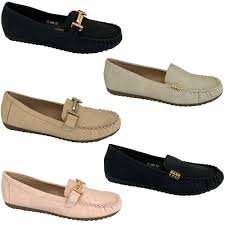 las moccasins slip on shoes ballerina womens leather
