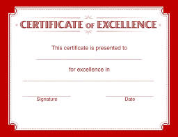 Certificates Of Excellence For Good Grades Google Search