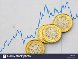 Sterling Chart British New Pound Coins Sterling Pounds Money Gbp On Digital