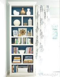 diy billy bookcase makeover in blue shades via knockoffdecor com