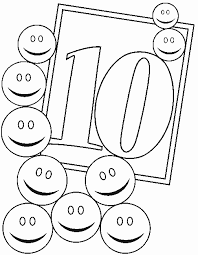 Small Picture Numbers 10 coloring page