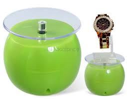Tea Set Display Stand For Sale Apple Shaped Solar Powered Rotating Display Stand For JewelryCell 73
