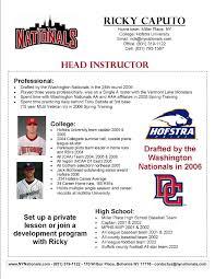 Baseball Coaching Resume Cover Letter Baseball Recruiting Letter Sample Docoments Ojazlink 89