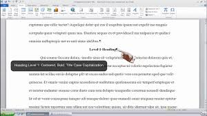 How To Format An Apa Style Body Content Using Headings In Ms Word 2010 Windows