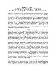 Statement Of Purpose Graduate School Sample Roho 4senses Co Save Phd