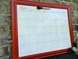 Framed Dry Erase Board Calendar Dry Erase Board Calendar 2017 Template