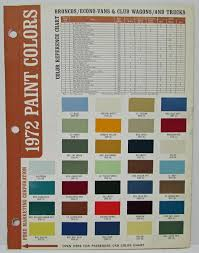 1972 Ford Paint Chips Including Passenger Car Color