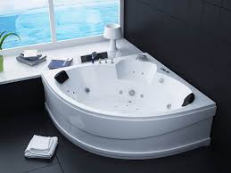Wonderful Bathroom Whirlpool Tubs with White Corner Jacuzzi plus Double  Black Raised H.
