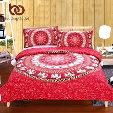 indian style bedding sets comforter elephant bed sheet set bohemian qualified soft duvet cover and pillowcases indian style bedding
