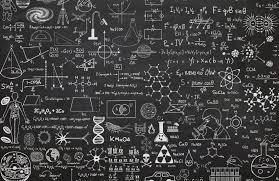 Scientific Chalkboard Effect Wall Mural