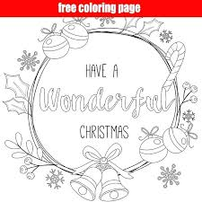 Christmas Wreath Coloring Wreath Coloring Page Christmas Wreath