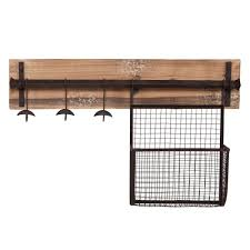 southern enterprises distressed fir wall mounted coat rack unique storage finish with aged metal racks narrow bedroom cubby shelf wire basket shelves