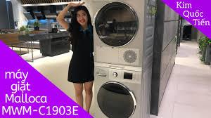 KIMQUOCTIEN.COM I Máy giặt Malloca MWM-C1903E + Máy sấy quần áo Malloca MTD  B0603E - YouTube