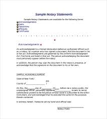 Samples Of Notary Letters 10 Sample Notarized Letters Pdf Word
