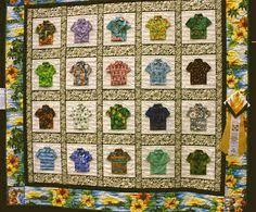 Paper Panache Hawaiian Shirt Pattern   Paper piecing   Pinterest ... & 'Hawaiian Shirts for the Menehune' from ECQG 2009 Show Adamdwight.com