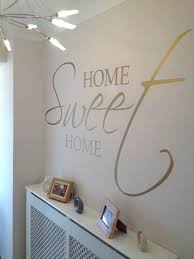 Small Picture Aesthetic Hallway Wall Art Ideas Using Home Sweet Home Wall Decal