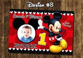 Make Your Own Mickey Mouse Invitations Free Personalized Mickey Mouse Clubhouse Birthday Invitations Party